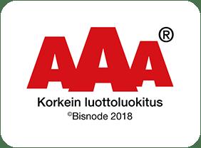 Korkein AAA luottoluokitus - Priima Pohjanmaa Oy